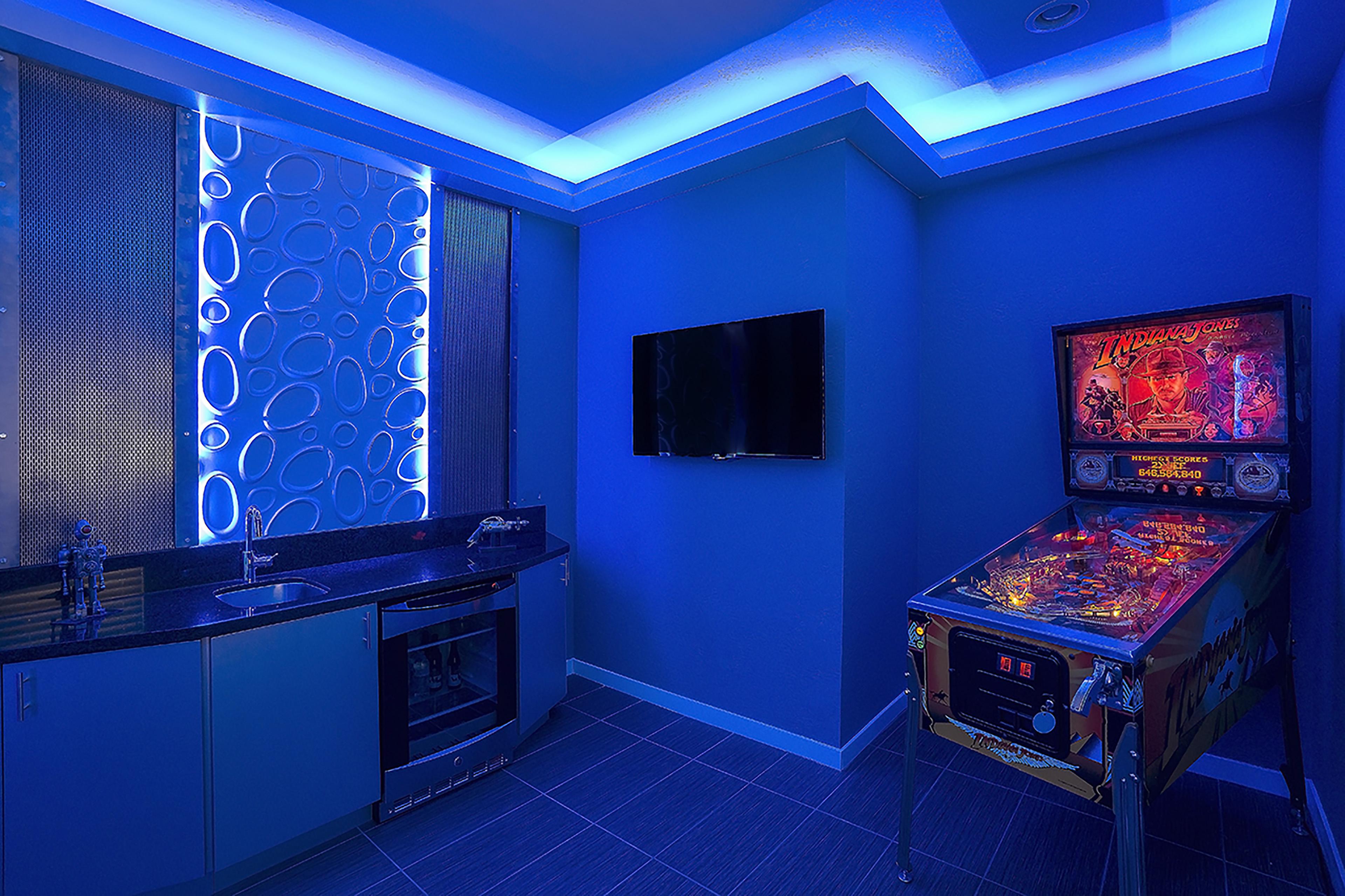 Futuristic Sci Fi Game Room I Allure Designs Llc
